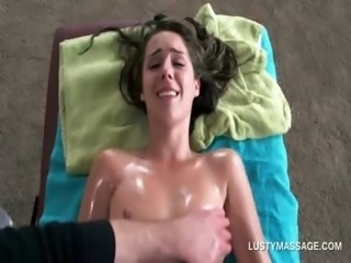 Massage Oiled Skinny Teen