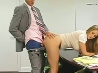 Amazing Clothed Cute Doggystyle Hardcore MILF Office Secretary