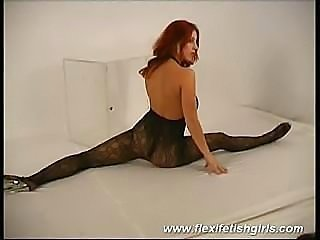 Amazingly appealing flexi model poses in black bodystocking