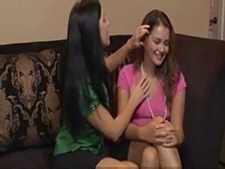 Brunette babe forced young beauty allie haze for first time  free