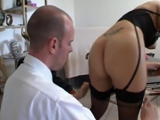 Ass French Office Stockings Tattoo