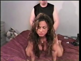 Female bodybuilder Rhonda banging