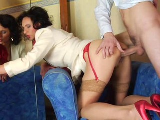 Anal Brunette Doggystyle Hardcore MILF Mom Stockings