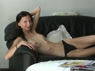 Amateur Brunette Panty Skinny Small Tits Teen