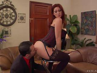 Sassy Tiffany Mynx Gets Her Slave To Lick Her Butt