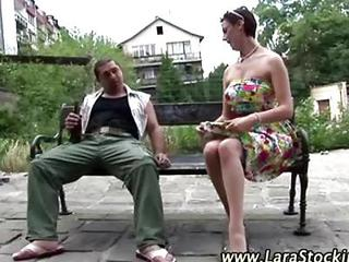 Mature Stocking Lady Homeless Guy Seduction