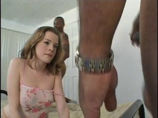 Slut getting her double cock ...