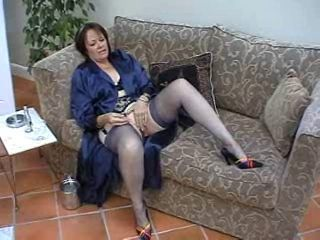 Suzie Mature Solo in Stocking...