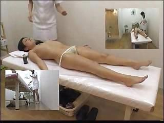 Detailed shooting of a long masterful sexy massage session