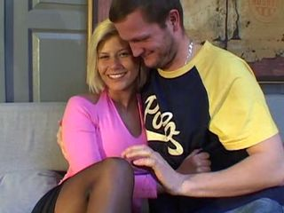French blonde with nice tits fucked