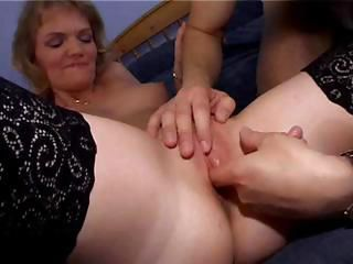 British hooker Sheila gives her customer some head after he fingers her