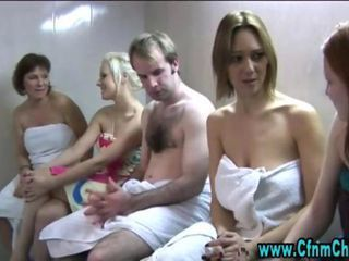 Cfnm fetish euro femdom girls dominating humiliated victim