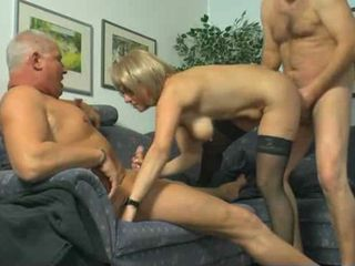 Husband Shares His Mature Wife With Another Man !