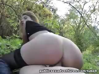 Public fuck with sexy amateur girl