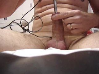 electro stell stimulation urethral in the cock extrem