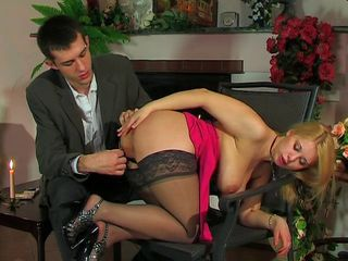 Slut with big tits fucked in the ass on the first date