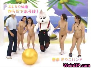 Asian girl is nude on educational part2