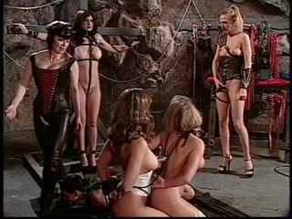 Lesbian babes in BDSM orgy