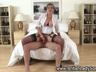 British big tits mature classy stockings lady fucks end gets cumshot on her face