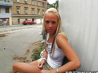 Blonde Cute Outdoor Pov Public Skinny Small Tits Teen
