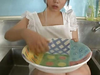 Aoi In The Kitchen Sink Her Big...