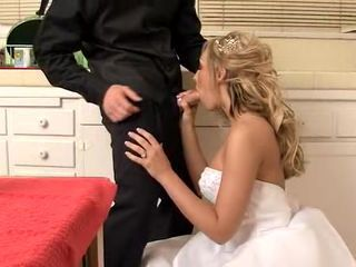 Wedding day suck and fuck with Jessica Lynn