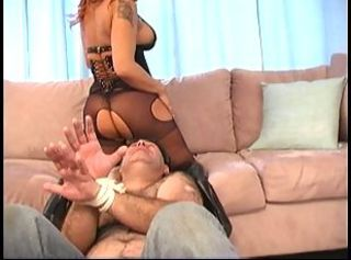 The Mistress Learning her Husband A Lesson _: face sitting femdom foot fetish
