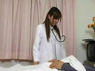 Japanese nurse bitch gets her patient hard