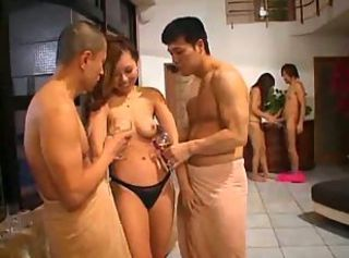 Crazy Japanese Orgy With Creampies