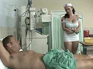 big boobed nurse having fun