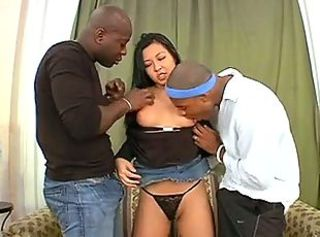 Asian Hardcore Interracial MILF Thai Threesome