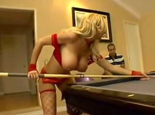 Big Tits Blonde Fishnet Lingerie MILF Pornstar Stockings