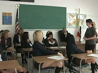 Lesbians Friends Gets Horny In Class,By Blondelover.