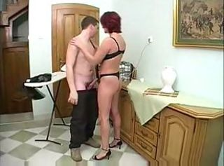 Young boy fuck mom ass
