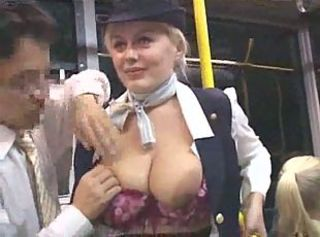 Big Tits Bus MILF Outdoor