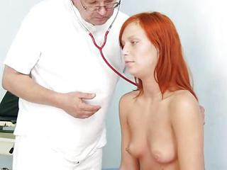 Ginger Honey Peach Examination By Kinky Gyno Doctor