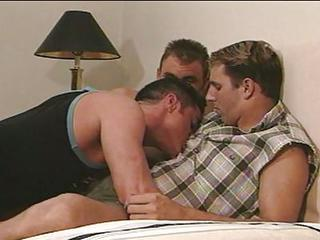 Three Muscled Gays Suck Cock And Do Hardcore Anal Fucking