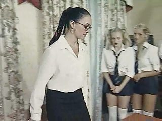 British European Glasses Lesbian MILF School Teacher Uniform