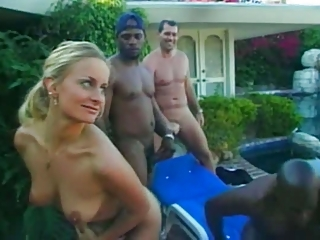 Blonde Cute Gangbang Interracial MILF Outdoor SaggyTits