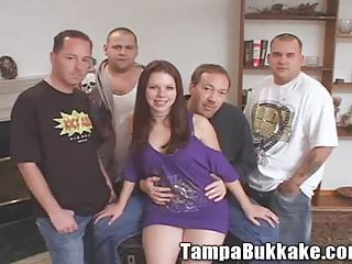Teen Slut Bukkake Gang Bang