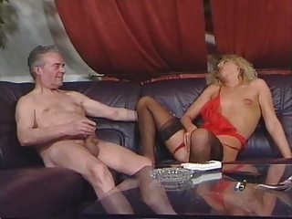 Lingerie Masturbating MILF Old and Young Small Tits Stockings
