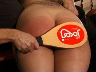 Girl gets spanked really hard and her ass turns red