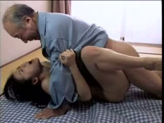 Japanese nympho haruka okoshi asks old man to fuck her