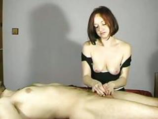 Amateur Girlfriend Handjob SaggyTits Small cock