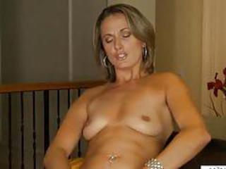 Cute Masturbating MILF SaggyTits