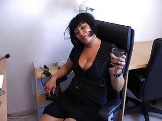 Drunk MILF Office Secretary