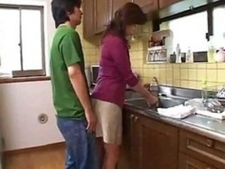 Asian Japanese Kitchen MILF Mom
