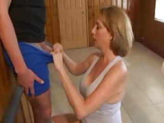 Mature Handjob With Amazing