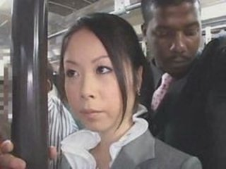 Asian Bus Interracial Japanese MILF Public