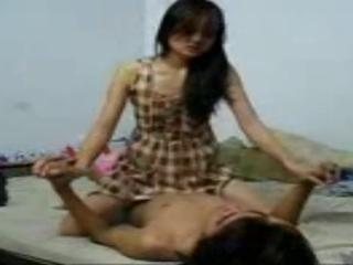 pretty indonesian Teen having sex with BF